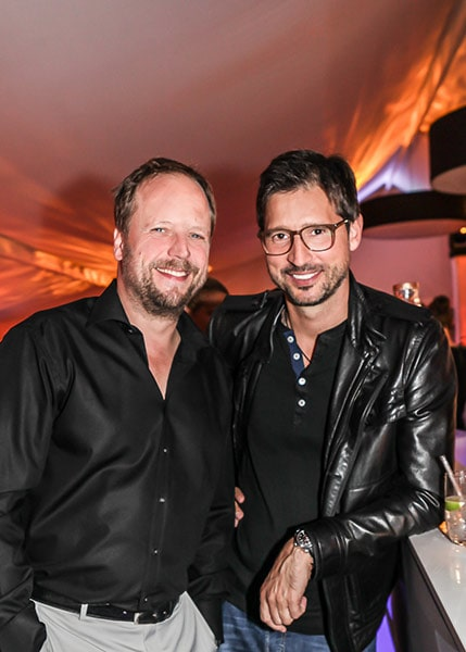 Musiker Smudo (Die Fantastischen Vier) und Andreas Türck bei der bet-at-home Players Night